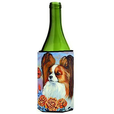 Carolines Treasures 7039LITERK Papillon Wine bottle sleeve Hugger 24 oz.