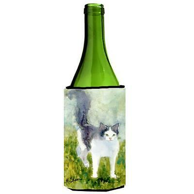 Carolines Treasures MM6040LITERK Cat Wine bottle sleeve Hugger