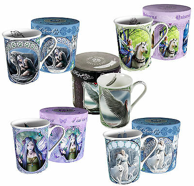 Anne Stokes Design Mugs - Fine Bone China - Gift Boxed - Fantasy Myth Magic Cup