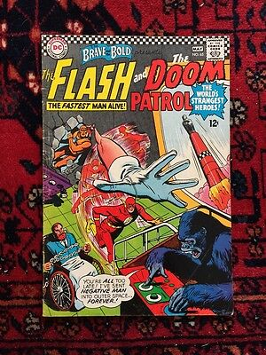 Brave and the Bold #65 Flash Doom Patrol DC 1966 Good