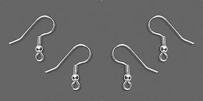 200 Stainless Steel EarWires Earings with Silver plated Bead + Coil Ear Wires