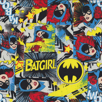 Wonder Woman Batgirl DC Comics Girls Licensed Quilt Fabric FQ or Metre *New*