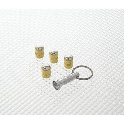 Richbrook Gold Spinning Car Valve Caps - Anti Theft - Set Of 4 - 3100.12