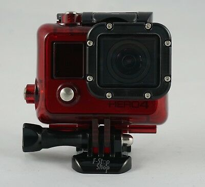 Red Waterproof Housing Case for Gopro HD Hero 3 3+ 4 with Lens, mount & screw