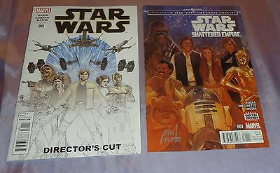 Star Wars Shattered Empire #1~Hand-Signed By Phil Noto+Director's Cut #1~Movie/7