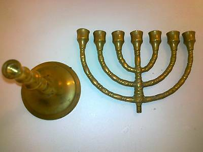judaica brass menorah