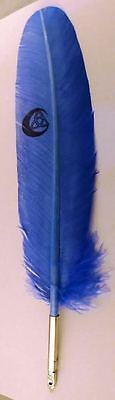 Trinity Blue Feather Quill Pen
