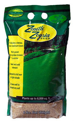 (On Backorder) Zenith Zoysia Grass Seed 100% Pure Seeds - 6 Lbs.