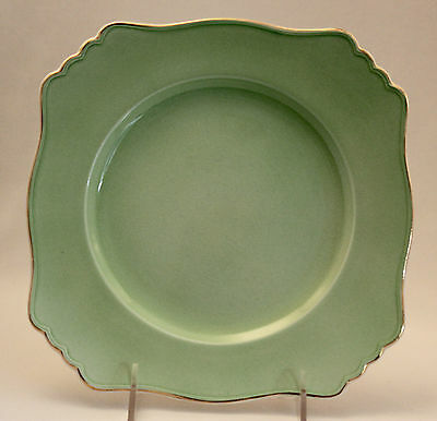 ROYAL WINTON Grimwades PASTEL WARE GREEN  Ascot Luncheon Plate Square 1934+