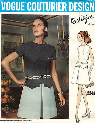 1960's VTG VOGUE Couturier Design Misses' Dress by Galitzine Pattern 2243 14