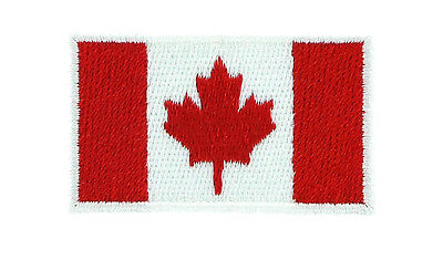 Ecusson Brodé petit CANADA Canadien FLAG PATCH Broderie 2x3cm Backpack sac à dos