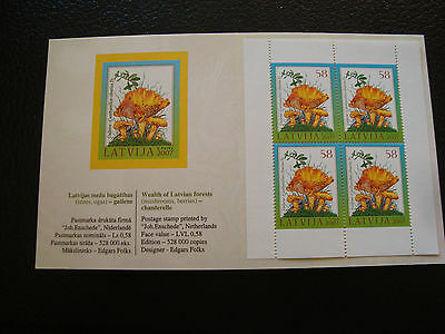 LETTONIE - document timbre yvert et tellier n° 685 x4 n** (Z11) stamp latvia