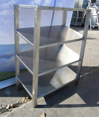 "Stainless Slanting Shelf, New, 30"" x 16"" x 40"" H"