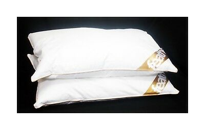 New Luxury Pair Of 85% Goose Feather Pillows 15% Goose Down Filling High Quality