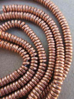 African Copper Heishi Beads-3 Strands