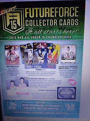 2015 Afl Select Future Force Sealed Box Of 18 Packets Pre Sell 24Th November