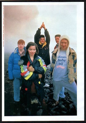 1991 The Sugarcubes Bjork JAPAN mag photo pinup mini poster / clipping s09r