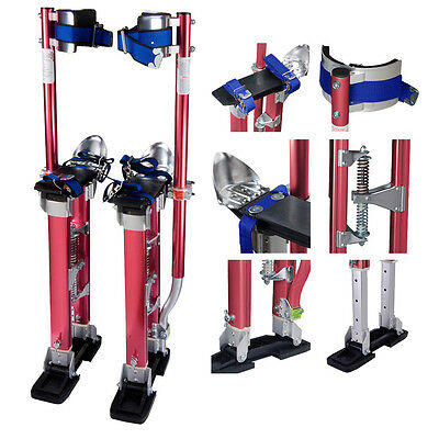 Drywall Painting Stilts 24-40 Inch Aluminum Stilt Tool For Painter Taping Red