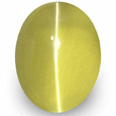 1.66-Carat VVS-Clarity Deep Yellow Chrysoberyl Cat's Eye from Sri Lanka (IGI)