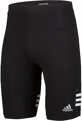Adidas Response Mens Short Running Tights - Black