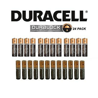 12 AA + 12 AAA = 24 Duracell LR6/LR03 Alkaline Power Plus Batteries MN1500/2400