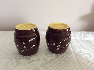 ����  Barrells At Stirling Salt & Pepper Shakers Brown And Yellow