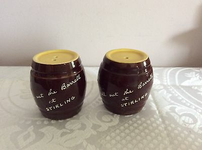 🇦🇺  Barrells At Stirling Salt & Pepper Shakers Brown And Yellow