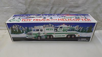 Hess Toy Truck 1995 Truck and Helicopter New NIB A3597