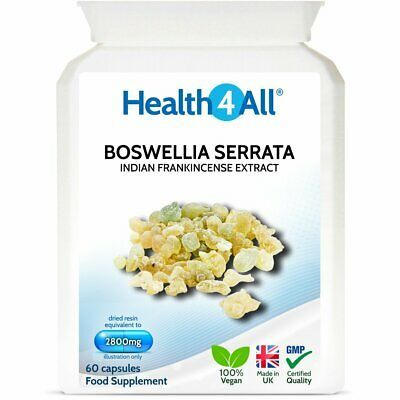 Boswellia Serrata (Indian Frankincense) Extract Capsules | 65% BOSWELLIC ACID