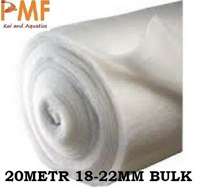 20M Pond fish tank Filter Wool 18-22mm for koi ponds CHEAPEST ON EBAY BULK ROLL
