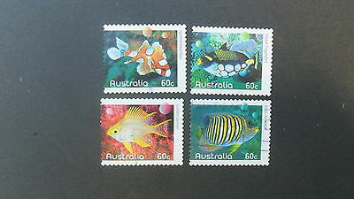 Australian Decimal Stamps: 2010 Fishes of the Reef Part 1 Self Adhesive USed