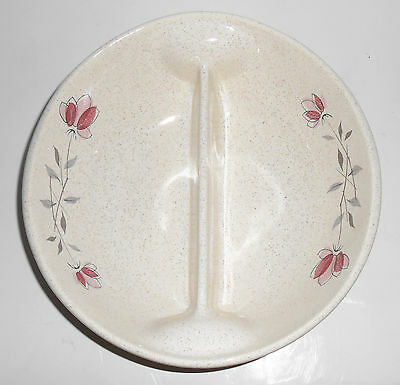 Franciscan Pottery Duet Divided Vegetable Bowl!  MINT