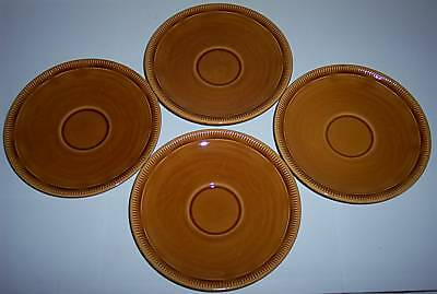Franciscan Pottery Wheat Harvest Brown Set/4 Saucers!