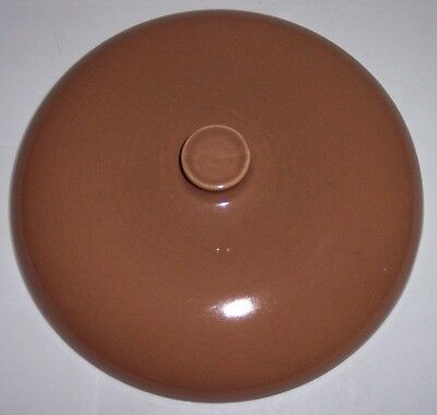 Russel Wright Pottery Iroquois Causal Nutmeg Casserole Lid!