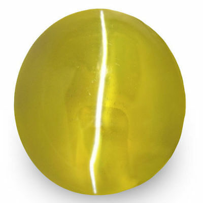 1.98-Carat VVS-Clarity Rich Greenish Yellow Chrysoberyl Cat's Eye from Ceylon