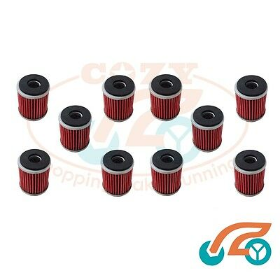 10x Oil Filter for YAMAHA WR450F 03-08 WR250R 07-08 WR250F 03-08 Rep KN-141 K&N