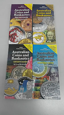 Australian Coins And Banknotes Greg McDonald set Four Books 16th - 19th Edition
