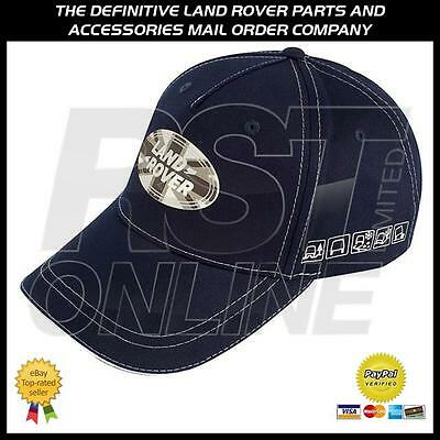 Genuine Land Rover Gear Union Flag Badge Baseball Cap Hat - Navy
