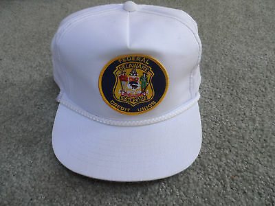 Delaware State Police Federal Credit Union Hat w/Patch Vintage Obsolete Unused