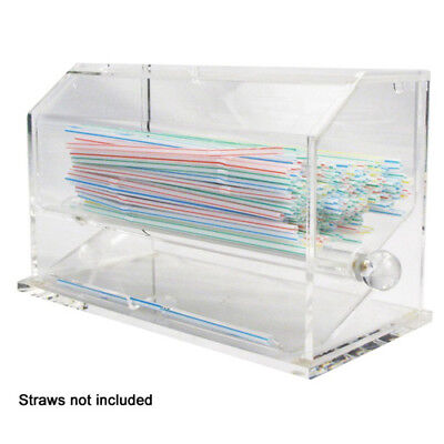 Winware by Winco ACSD-712 Clear Acrylic Straw Dispenser