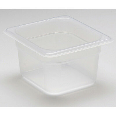 "Cambro Translucent Food Pan, One Sixth Size (6"" x 7"")"