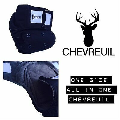 Chevreuil Modern Cloth Diaper, Deer, AIO with pocket style diaper