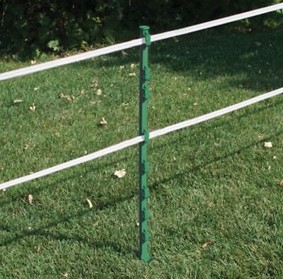 60x GREEN 3FT POSTS - RUTLAND Electric Fencing Fence Stakes Poles With Spike