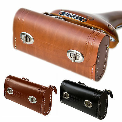 Hand Stitched Leather Bicycle Saddle Bag | Colours Tan Brown Black Retro Eroica