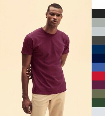 10er Pack T-Shirts, FRUIT OF THE LOOM 18 Farben, Super Premium Tee 61-044-0, NEU