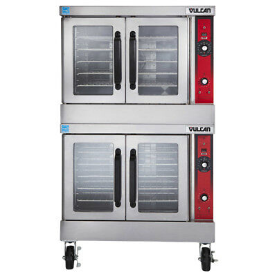 Vulcan VC44GD Double Deck Nat. Gas Convection Oven, Solid State Controls