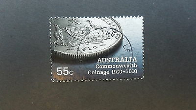 Australian Decimal Stamps: 2010 Aust. Commonwealth Coinage 1910-2010 Sheet used