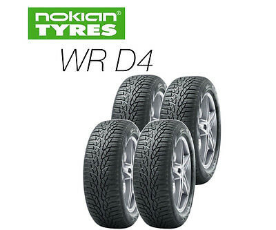 4x Nokian WR D4 - 205/55 R16 91T Winter Tyre (ALL SIZES)