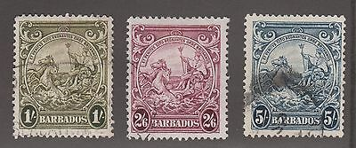 Barbados #200, #201 & #201A Used