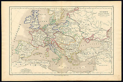 Antique map-HISTORICAL-EUROPE-18TH CENTURY-Drioux-Leroy-1854